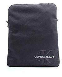 Calvin Klein Monogram Nylon Flatpack - Grigio