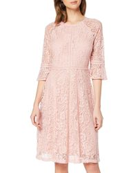 Dorothy Perkins Blush Three Quarter Sleeve Tilly Dress Casual - Pink