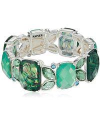 Napier - Green Abalone Stone Stretch Bracelet - Lyst