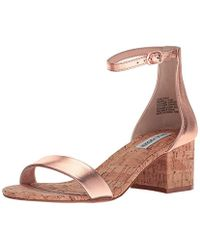 34d85139962 Lyst - Steve Madden  irenee  Ankle Strap Sandal in Natural
