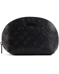 Guess Annabel Dome Cosmetic Bag Black - Noir