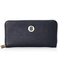 Tommy Hilfiger Core Large Zip Around Wallet - Blue