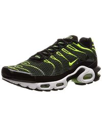 Original Air Max Plus Tuned 1 Tn Black Volt Green Trainers Shoes 852630 036