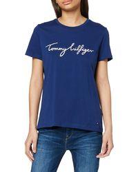 Tommy Hilfiger Crew Neck Graphic Tee T-Shirt - Bleu