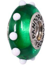 PANDORA Abalorio de mujer de plata de - Verde