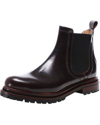 Hudson Jeans H Wisty Patent Leather Chelsea Boots 7 Red - Black