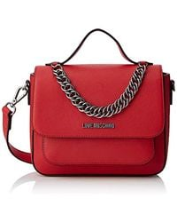 Love Moschino Borsa Natural Grain Pu - Rosso