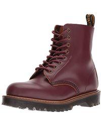 Dr. Martens - Pascal Fl White Cascade Split White 8-hole Winter Boots 21,611,100 - Lyst