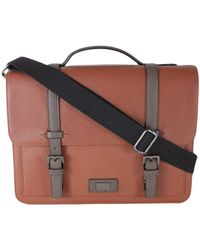 Ted Baker London Advntr Textured Pu Satchel - Brown