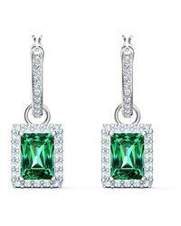 Swarovski Angelic Hoop Pierced Earrings - Verde