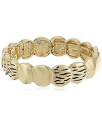 Kensie - Textured Circle Stretch Bracelet - Lyst