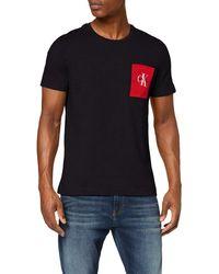 Calvin Klein Monogram Pocket Slim Tee T-Shirt - Schwarz
