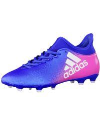 adidas X 16.3 FG Chaussures de Football - Bleu