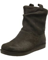 Clarks Unstructured Ankle Boots Un Ashburn Khaki Suede - Green