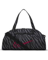 Nike 010 W Nk Gym Club - Aop Gym Bag Womens Black/black/(fireberry)