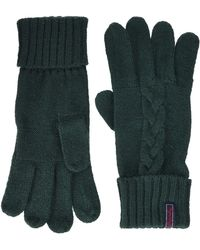 Superdry Lannah Cable Gloves - Green
