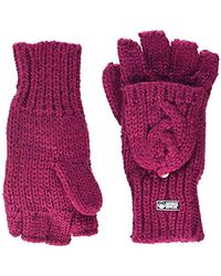 Superdry Gracie Cable Glove - Pink