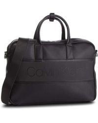Calvin Klein Strike Slim Laptop Bag Black - Noir
