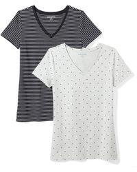 Amazon Essentials - Camiseta de manga corta clásico con cuello en V - Lyst