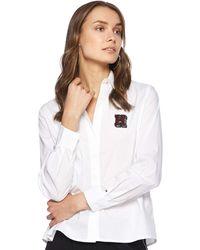 Tommy Hilfiger Libby A-Line Shirt LS Camisa ga Larga - Blanco