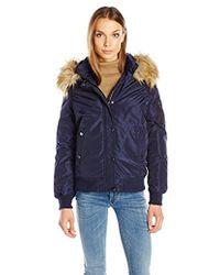 Madden Girl - Hooded Bomber Jacket - Lyst