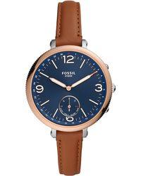 Fossil FTW5083 Smartwatch ibrido Monroe in acciaio inossidabile da donna con rilevamento dell'attività e notifiche sullo smartphone - Marrone