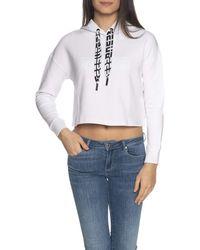 Guess Felpa O1GA61 KA3P1 Hooded Sweatshirt Donna - Bianco