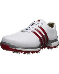 Adidas Leather Tour 360 Boost 2 0 Golf Shoes In Red For Men Lyst