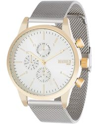 Steve Madden Analog Quartz Watch With Alloy Strap Smmw039tg - Metallic