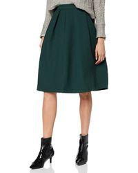 Scotch & Soda Structured Knee Length Skirt - Green