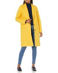 Amazon Essentials Plush Button-Front Coat Abito Cappotto - Giallo