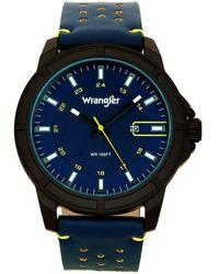 Wrangler S 48mm Watch W/strap 48mm Blue
