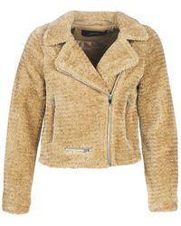 Vero Moda Vmnancy Short Faux Fur Jacket - Brown