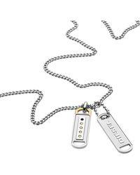 DIESEL Jewellry DOUBLE PENDANT DX1213040 Chaîne de cou pour hommes - Multicolore