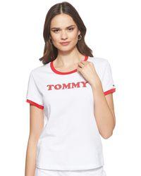 Tommy Hilfiger Slogan W T-Shirt - Blanc