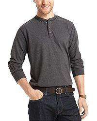 G.H.BASS - Big And Tall Long Sleeve Henley Shirt - Lyst