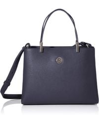 Tommy Hilfiger Th Core Med Satchel - Azul