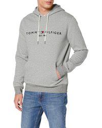 Tommy Hilfiger Tommy Logo Hoody Felpa - Grigio