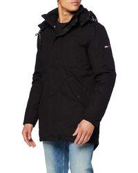 Tommy Hilfiger Sherpa Parka Boyfriend Coat - Black