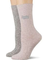 Superdry Sparkle Socks 2 Pack - Grey