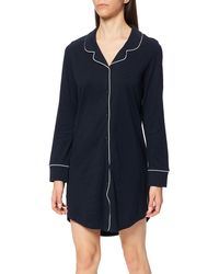 Esprit Beautiful Basics Nw Coo Nightshirt L-slv Nightgown - Blue