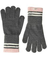 Steve Madden 3 Stripe Magic Glove Cold Weather - Gray