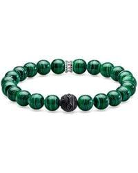 Thomas Sabo Men Silver Stretch Bracelet - A1778-530-6-l19 - Metallic