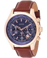 Guess Reloj analogico para Mujer de Cuarzo con Correa en Tela W0775L1 - Azul