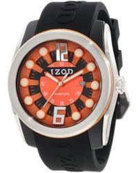 Izod Izs1/3 Blk/orange Sport Quartz 3 Hand Watch
