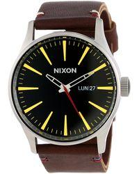 Nixon A105019 Sentry Leather Watch - Multicolor