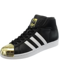 adidas SCARPE PRO MODEL METAL TOE BB2130 BLACK GOLD DONNA - Nero