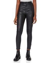Vero Moda VMLOA HR Slim Glitter Pants Pantaloni - Nero