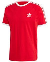 adidas 3-Stripes Tee T-Shirt - Rosso
