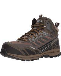 Fila Hail Storm 3 Mid Composite Toe Trail Work Shoes Hiking - Marrone